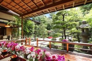 瑞々しい緑溢れる日本庭園